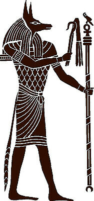 Anubis Ancient Egyptian God Vinyl Wall Art Sticker / Decal