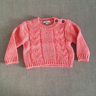 Pumpkin Patch Baby Girls Knitted Jumper GUC, Size 0