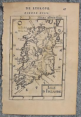 Ireland 1683 Alain Manesson Mallet Scarce Antique Original Copper Engraved Map