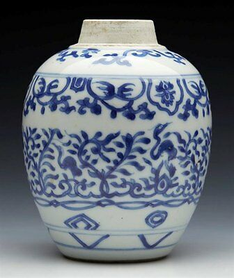 Antique Chinese Kangxi Jar With Exotic Birds 1662 - 1722