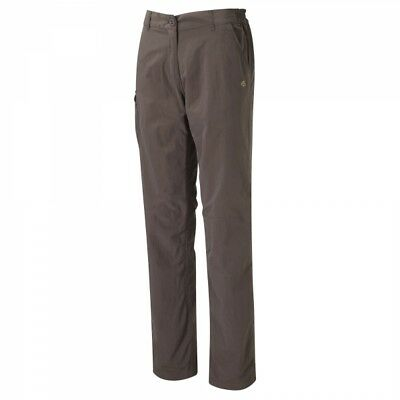 """Craghoppers Womens Ladies Nosilife Walking Hiking  Trousers Brown (SHORT 28"""")"""