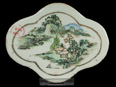 China 19. Jh. Porzellan Tafel - A Chinese Porcelain Plaque Chinois Cinese Qing