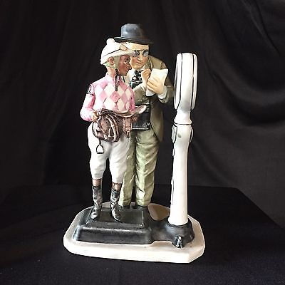 """The Weigh In Norman Rockwell Rare Vintage Figurine 7"""" X4"""" Collectible Gift"""