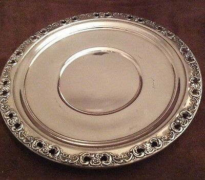 """Reed & Barton Sterling Silver FLORENTINE LACE Lunch Or Salad? PLATE DISH 8.25"""""""