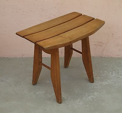 tabouret guillerme chambron 1950 assise chene