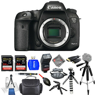 Canon EOS 7D Mark II Digital SLR Camera (Body Only) - Pro Bundle Brand New!