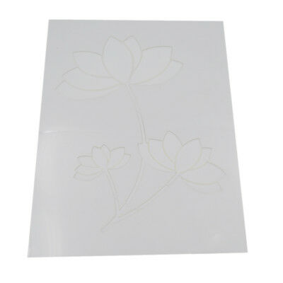 Wall Painting Stencil Spray Reusable Flower Pattern Templates Mold Decor #5
