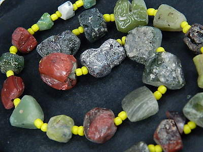 Ancient Roman C.200 BC Glass Fragment Beads STrand ###B1340##