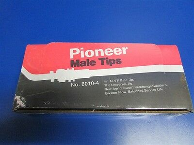 """10x Parker Pioneer Hydraulic Male End Tip 8010‑4 Thread Size 1/2"""" Pipe, Hex Size"""