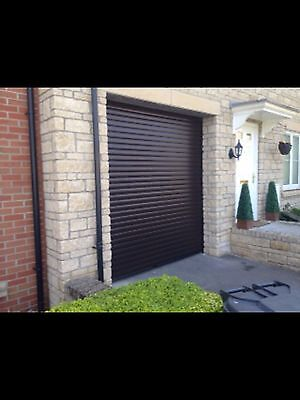 Fully fitted insulated electric roller Garage door CE marked Insulated Install
