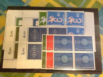 Germany MNH Europa Blocks Of 4 SG 1187/8, 1212/3, 1234/5, 1251/3