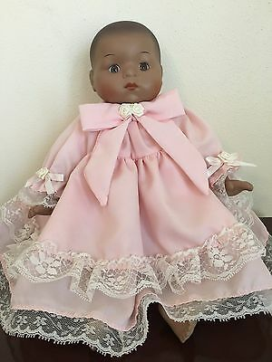 Beautiful Porcelain African American Baby Doll By Seymour Mann