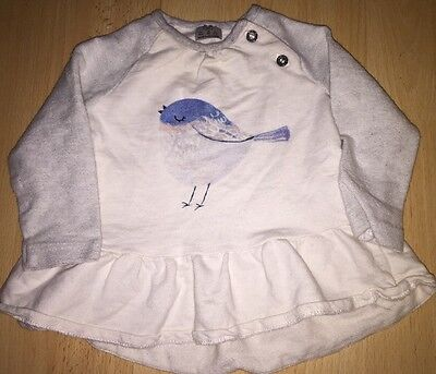 Baby girls long sleeved top for 3-6 months from F&F - excellent condition