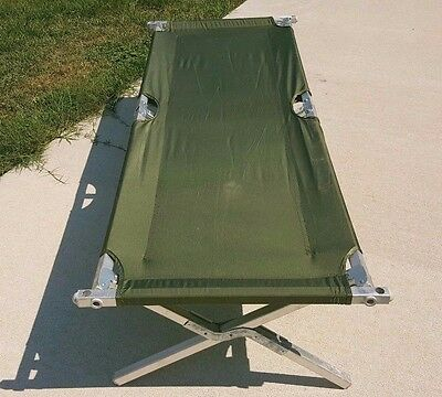US Army USMC Issue Military HD Aluminum Cot, North American Mfg NICE!!!!
