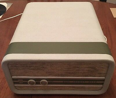 Lovely Vintage Green Philips Disc Jockey Auto 1960s Portable Cased Record Player