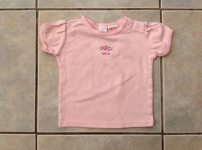 Baby Girls GAP Tshirt Top. Short Sleeved. Pink 6 9 12 Months.