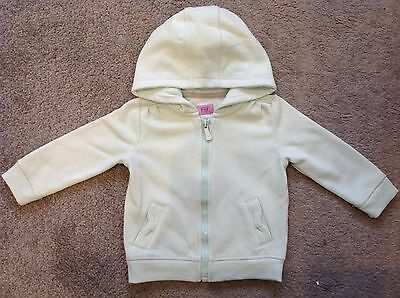 Baby Girls Long Sleeved Hooded Top Jacket. Pale Green. 6 9 Months