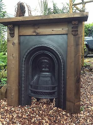 Original Victorian Cast Iron Fireplace & Hand Made Reclaimed Surround