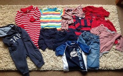 Bundle Of Baby Gap Boy's Clothes 12-18 Months, 12 Pieces In Total