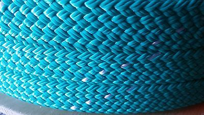 """1.25"""" x 100 ft. hollow/flat braid polyester rope.100 ft.High Quality.Made in USA"""