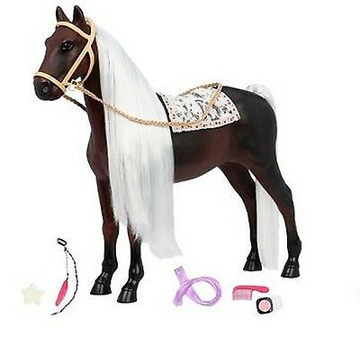 """Our Generation Boho Hair Play Glitter Rocky Mountain Horse for 18"""" Dolls"""