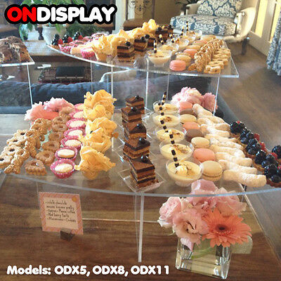 New! Cupcake/sushi/hors D'oeuvres/dessert Food Display Stand -Acrylic Shelf Rack