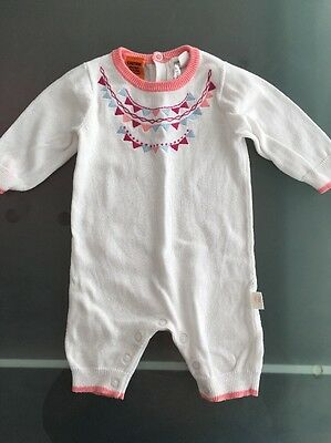 Gorgeous Newborn Pumpkin Patch Knitted Baby Girl Romper 0000