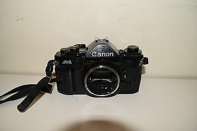 Canon A-1 35mm SLR Film Camera Body Only  Black