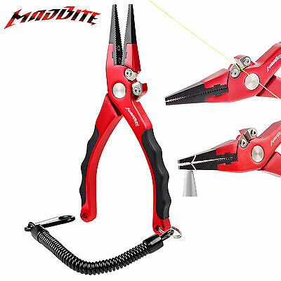 Madbite Aluminum Saltwater Fishing Pliers Hook Remover Braided Line Cutters