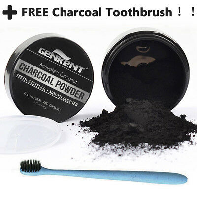 100% Natural Organic Carbon Coconut Activated Charcoal Teeth Whitening Powder