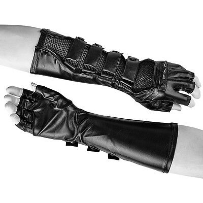 Gothic Cyber Steampunk Warrior Gladiator Archer Ranger Fingerless Gloves