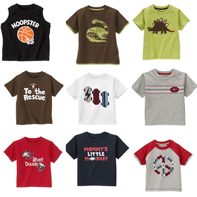 Gymboree Boys Tee Shirts 3-6 mo Summer Rescue Monkey Dinosaur Dino U Pick Brown