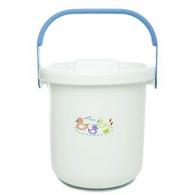 The Neat Nursery Co. Baby Child Nappy Diaper Waste Disposal Pail - Quack Blue