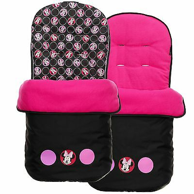 Obaby Disney Circles Baby Pushchair / Pram Footmuff - Minnie Mouse Disney