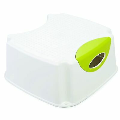 The Neat Nursery Co. Child/Kids Potty/Toilet Training Step-Up Stool - White/Lime
