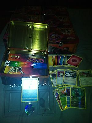 75+ POKEMON CARDS IN COLLECTORS CHEST MEGA GIFT SET w/ RARES HOLO PROMO COIN