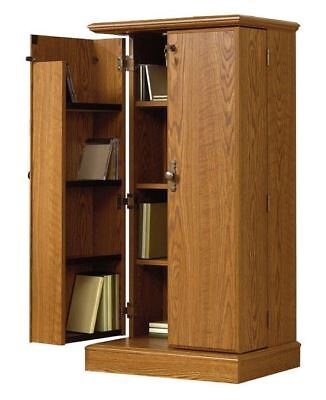 Sauder Orchard Hills Multimedia Media Storage Cabinet Carolina Oak Finish