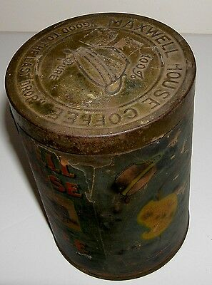 Maxwell House Paper Label Coffee 1920s? 1 pound building org top