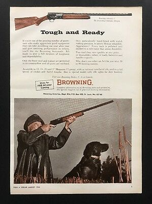Browning Sporting Arms | 1966 Vintage Ad | 1960s .22 Rifle Hunting