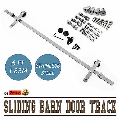 1.83M Sliding Barn Door Track Anti-Jump Only Hardware Resistance Free Shipping