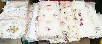 400pc Wholesale Embroidered Table Runner Doilies Placemat Mixed Clearance Sale