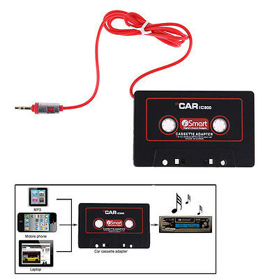 Audio AUX 3.5mm Car Cassette Tape Adapter Converter for iPhone Android MP3 iPod*