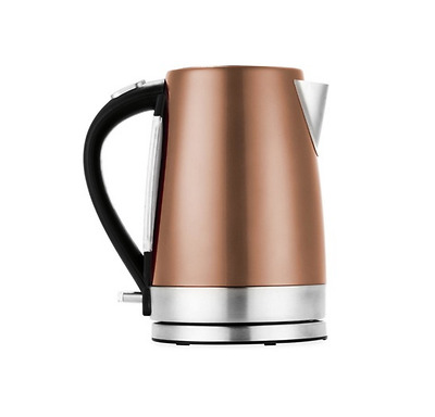 Electric Kettle Stainless Steel Coffee Tea Water Boiler Portable Copper 1.7L