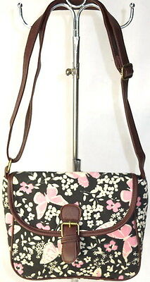 50pc Wholesale Long Canvas Butterfly Crossbody Bag Handbag Clearance Sale