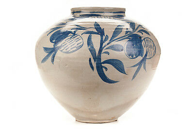 Antique Korean Blue & White Glazed Pot c.1920s