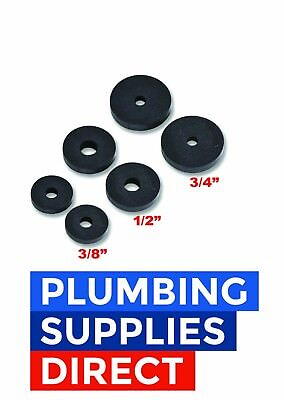 "* Individual or Assortment of 2/4/10 Rubber Tap Washers In 3/8"" - 1/2"" - 3/4"""