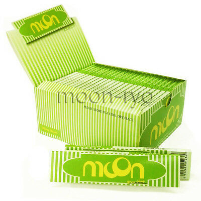 1 box 50 booklets Moon Hemp Cigarette Rolling Papers 108*45mm King Size Slim