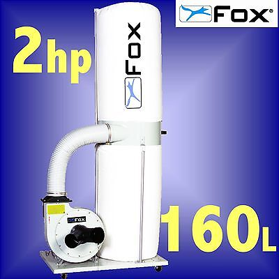FOX F50-842 240v 2Hp 160 Litre Portable Dust Extractor extraction 3Yr Warranty