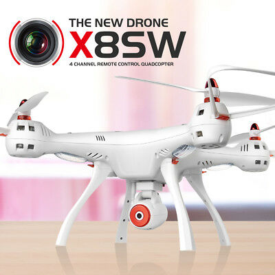 Syma X8SW 2.4G Real Time RC Drone Quadcopter Hover Wifi Camera Helicopters RTF