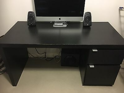 IKEA desk black/brown